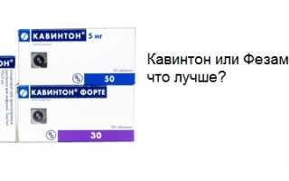 Винпоцетин или фезам