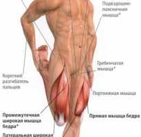 Боль мышц ягодицы и бедра